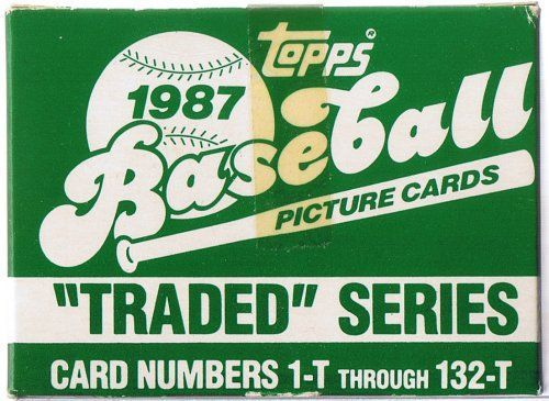 1987 TOPPS BASEBALL TRADED SET SET IS MINT