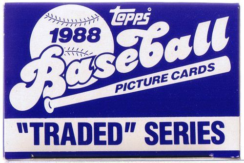 1988 TOPPS BASEBALL TRADED SET SET IS MINT