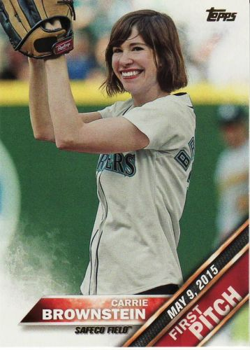 2016 Topps First Pitch #FP-17 - Carrie Brownstein - Mariners