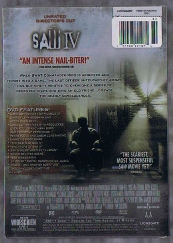 SAW IV DVD IS NEW SEALED