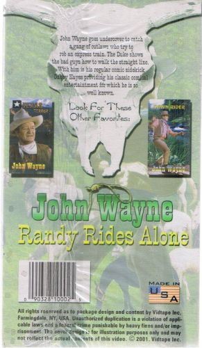 JOHN WAYNE RANDY RIDES ALONE NEW SEALED