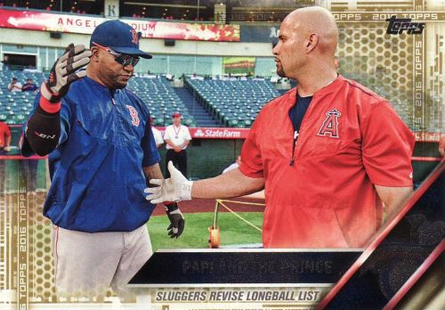 2016 Topps Gold #126 - Papi And The Prince - Red Sox - Angels