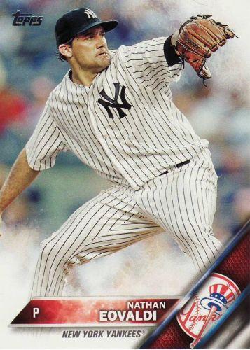 2016 Topps #168 - Nathan Eovaldi - Yankees