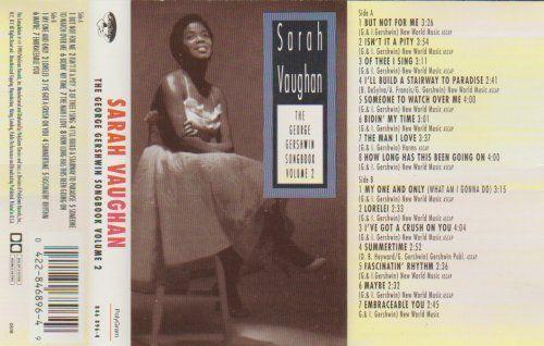 SARAH VAUGHAN THE GEORGE GERSHWIN SONGBOOK VOL 2