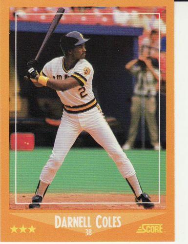 1988 Score #554 - Darnell Coles - Pirates