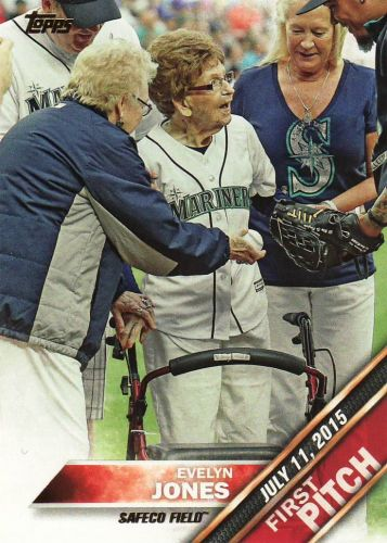 2016 Topps First Pitch #FP-5 - Evelyn Jones - Mariners