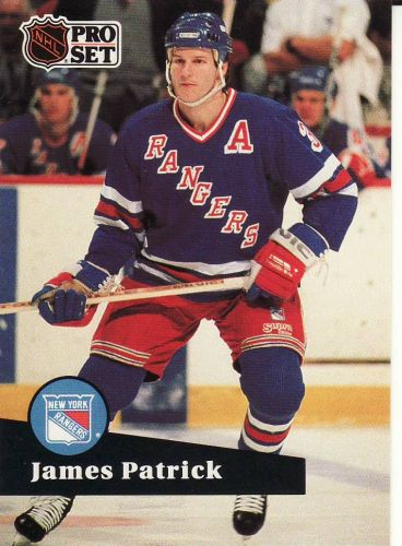1991-92 Pro Set French #164 - James Patrick - Rangers