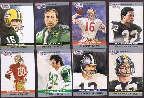 1990 PRO SET SUPER BOWL MVP'S 25 CARD SET CARDS ARE NM/M ( PACK FRESH )