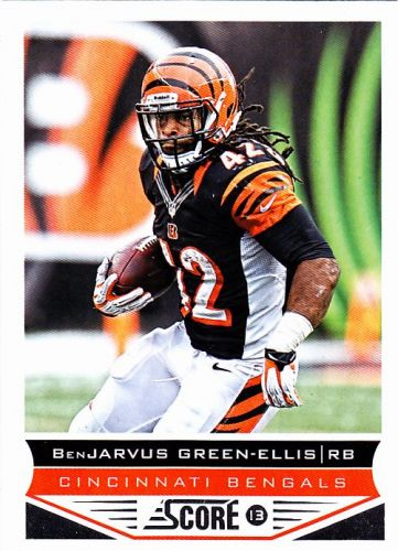 Benjarvus Green-Ellis #44 - Bengals 2013 Score Football Trading Card