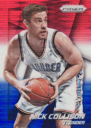 2014-15 Panini Prizm Prizms Red White And Blue Pulsat #30 - Nick Collison - Thunder