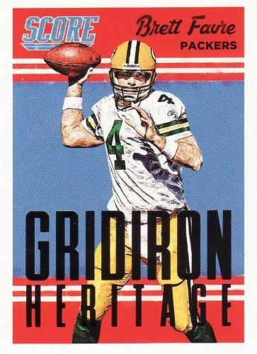 2015 Score Gridiron Heritage #7 - Brett Favre - Packers