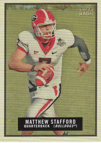 2009 Topps Magic #77 - Matthew Stafford - University of Georgia