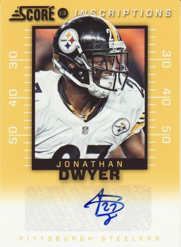 2013 Score Insciptions #49 - Jonathan Dwyer - Steelers