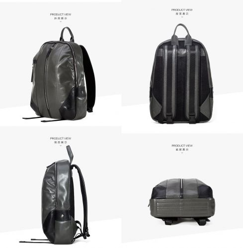 shark-borough Leather business travel backpack