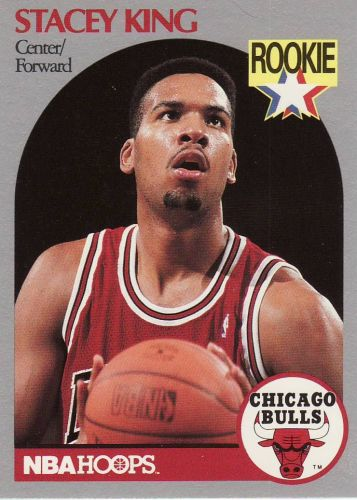 1990-91 Hoops #66 - Stacey King - Bulls