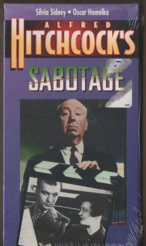 ALFRED HITCHCOCK SABOTAGE VHS NEW SEALED
