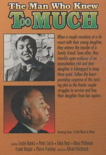 ALFRED HITCHCOCK THE MAN WHO KNEW TOO MUCH VHS NEW SEALED