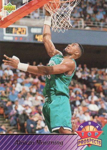 1992-93 Upper Deck #457 - Alonzo Mourning - Hornets