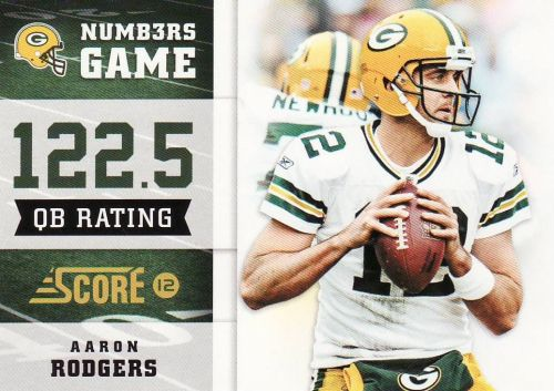 2012 Score Numbers Game #11 - Aaron Rodgers - Packers
