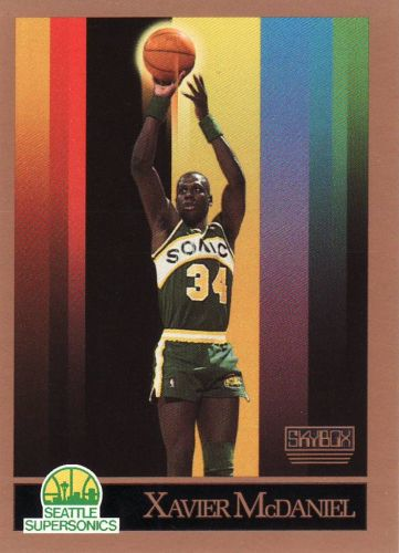 1990-91 Skybox #269 - Xavier McDaniel - Supersonics