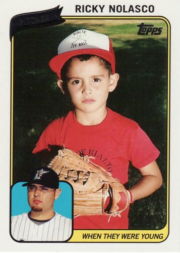 2010 Topps When They Were Young #RN - Ricky Nolasco - Marlins