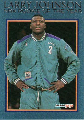1992-93 Fleer Larry Johnson - #10 - Larry Johnson - Hornets