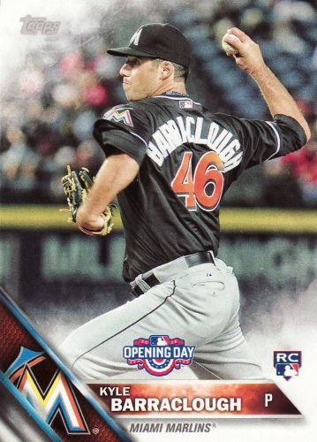 2016 Topps Opening Day #OD151 - Kyle Barraclough - Marlins