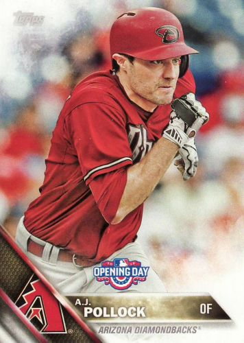 2016 Topps Opening Day #OD79 - A.J. Pollock - Diamondbacks