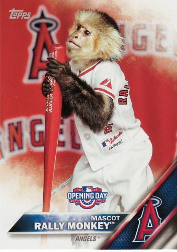 2016 Opening Day Mascots #M3 - Rally Monkey - Angels