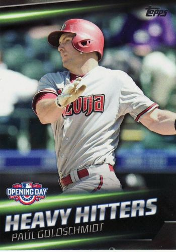 2016 Topps Opening Day Heavy Hitters #HH12 - Paul Goldschmidt - Diamondbacks