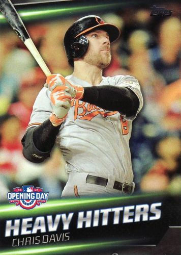 2016 Topps Opening Day Heavy Hitters #HH6 - Chris Davis - Orioles