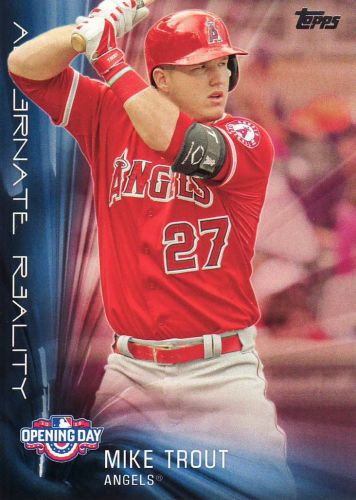 2016 Topps Opening Day Alternate Reality #AR8 - Mike Trout - Angels