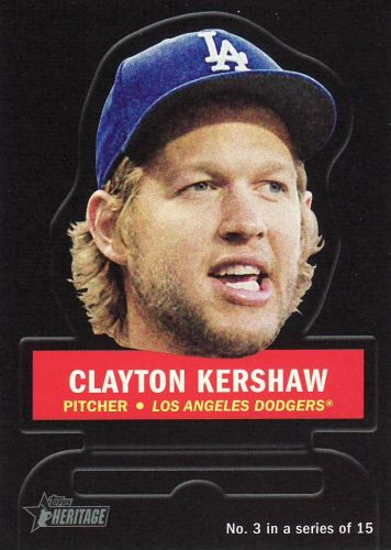 2016 Topps Heritage Stand Ups #3 - Clayton Kershaw - Dodgers