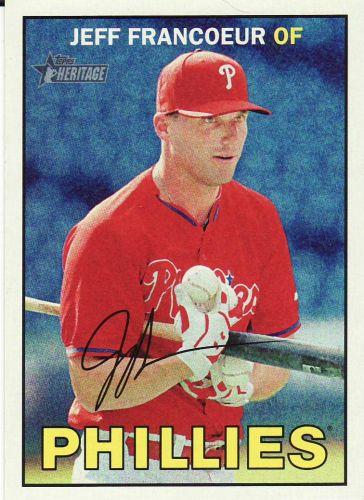 2016 Topps Heritage #252 - Jeff Francoeur - Phillies