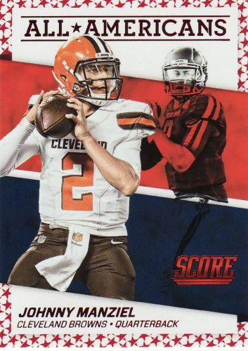2016 Score All Americans Red #11 - Johnny Manziel - Browns