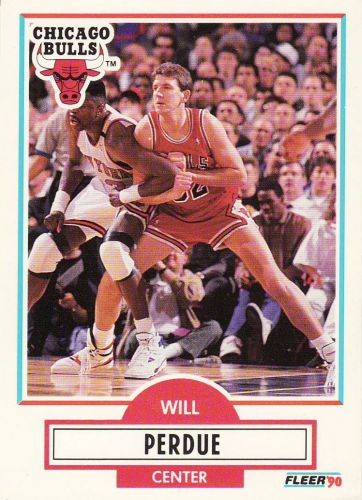 1990-91 Fleer #29 - Will Perdue - Bulls