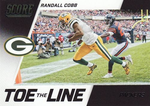 2016 Score Toe The Line Black #15 - Randall Cobb - Packers