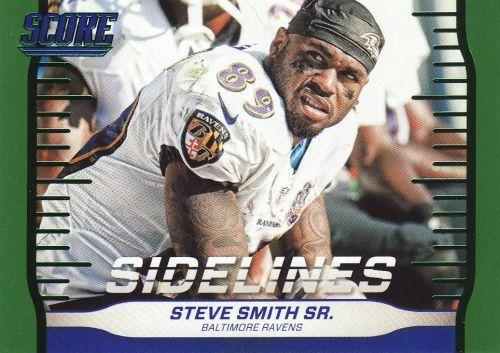 2016 Score Sidelines Green #24 - Steve Smith Sr. - Ravens