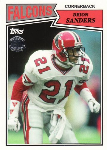 2015 Topps 60th Anniversary Throwbacks #T60DS - Deion Sanders - Falcons
