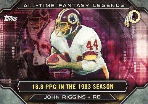 2015 Topps All Time Fantasy Legends #ATFL-JRI - John Riggins - Redskins