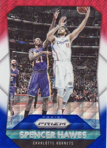 2015-16 Panini Prizm Prizms Red White Blue #218 - Spencer Hawes - Hornets