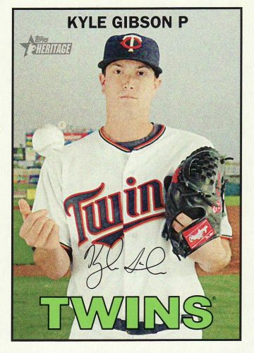 2016 Topps Heritage #112 - Kyle Gibson - Twins
