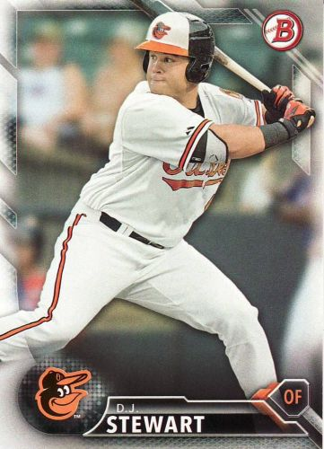 2016 Bowman Prospects #BP79 - D.J. Stewart - Orioles