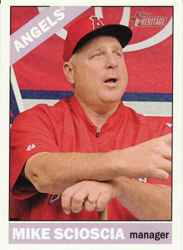 2015 Topps Heritage #249 - Mike Scioscia - Angels