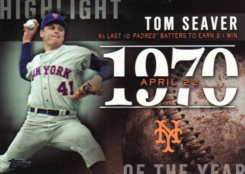 2015 Topps Highlight Of The Year #H73 - Tom Seaver - Mets