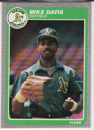 1985 Fleer #422 - Mike Davis - Athletics
