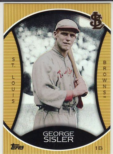 2010 Topps Legends Gold Chrome Target Cereal #GC8 - George Sisler - Browns