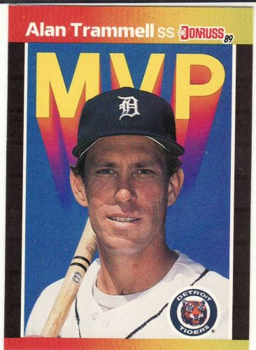 1989 Donruss Bonus MVPs #BC17 - Alan Trammell - Tigers