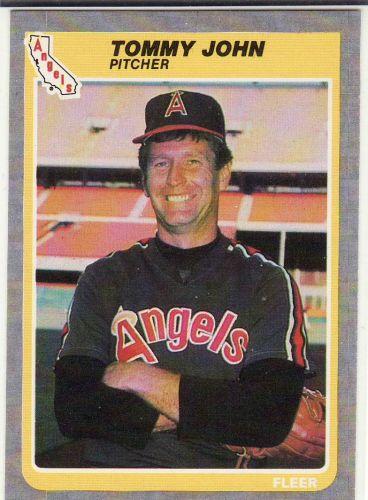 1985 Fleer #304 - Tommy John - Angels