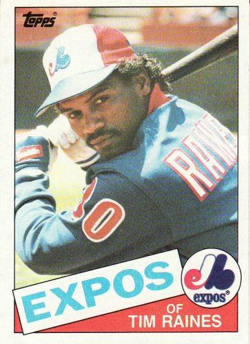 1985 Topps #630 - Tim Raines - Expos